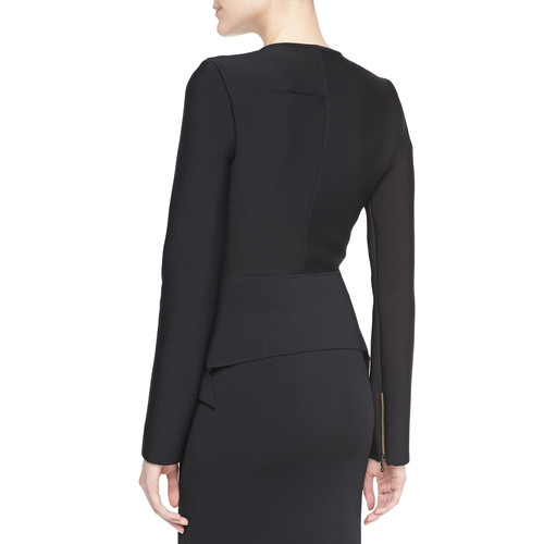 Zabrus Zip-Front Jacket, Black