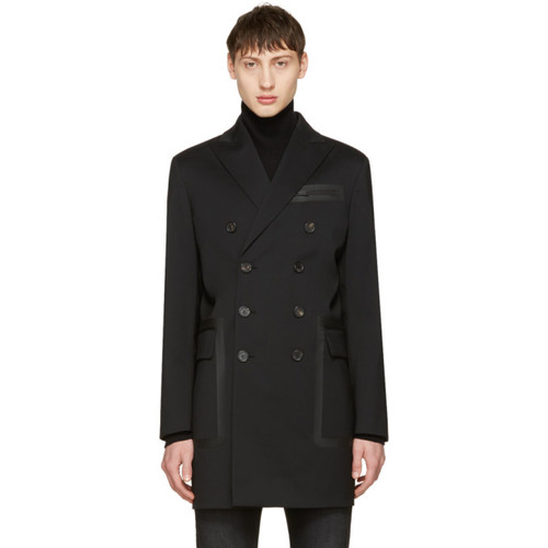DSQUARED2 Black Chic Wool Coat