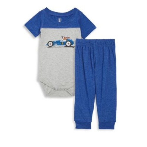 Wes & Willy - Baby's Two-Piece Graphic Bodysuit and Jogger Pants Set
