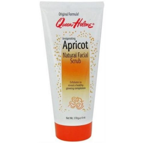 QUEEN HELENE Natural Facial Scrub, Invigorating Apricot 6 oz (Pack of 6)
