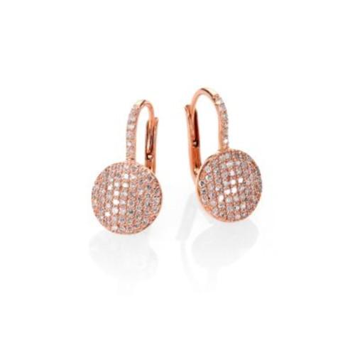Affair Diamond & 14K Rose Gold Petite Infinity Earrings