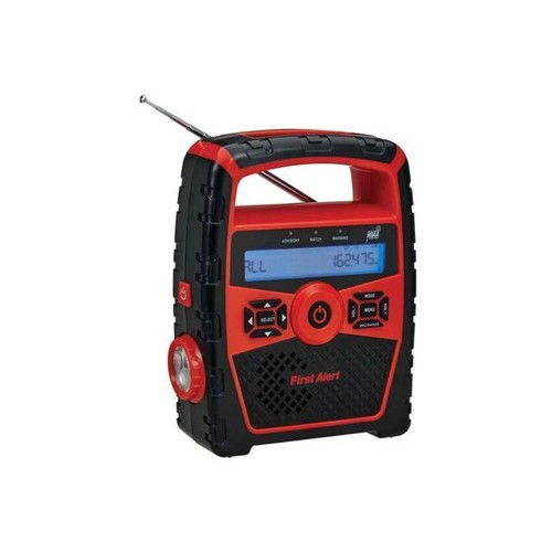 Portable AM/FM Weather Radio with Alarm Clock