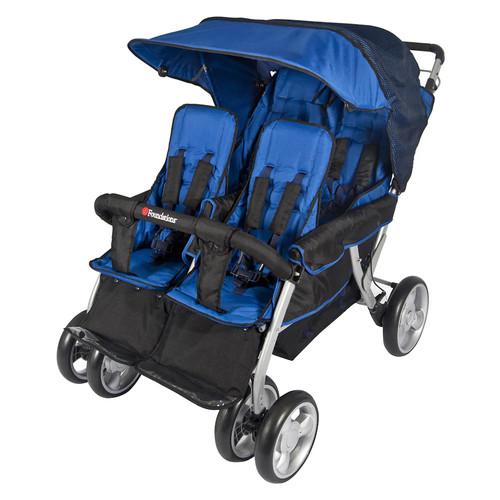 Foundations Quad Lx 4-Passenger Stroller, Regatta Blue [Regatta Blue]