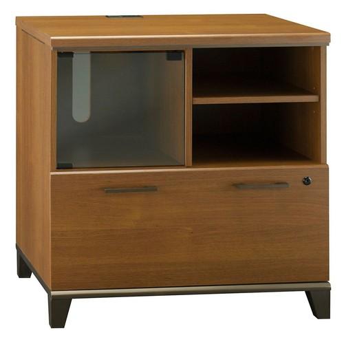 Bush Furniture Achieve Lateral File/Printer Stand, Warm Oak