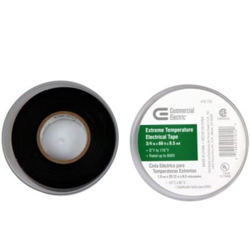 Commercial Electric 3/4 in. x 66 ft. Extreme Temperature Vinyl Electric Tape