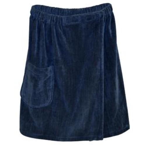 Radiant Saunas Men's Spa and Bath Navy Blue Terry Cloth Towel Wrap