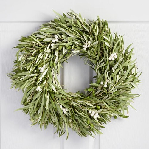 Olive Eucalyptus and Berries Wreath