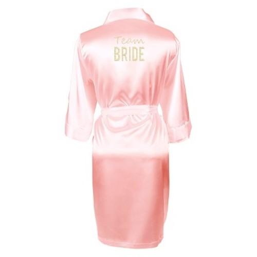 Solid Pink Satin Robe (Small-Medium)