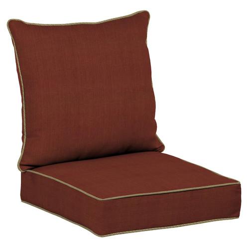 Bombay Outdoors Pompas Texture Reversible Deep Seat Chair Cushion Set