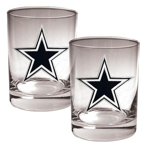 Dallas Cowboys 2-pc. Rocks Glass Set