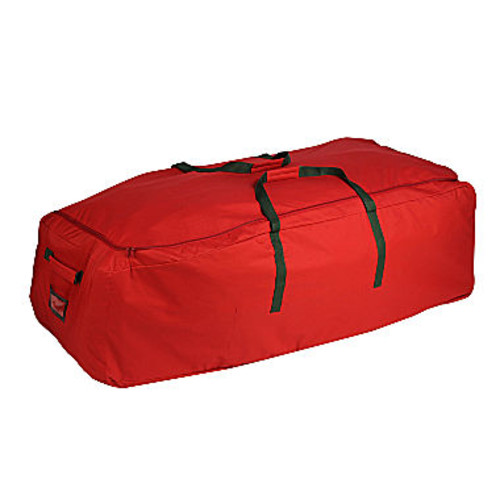 Honey-Can-Do SFT-02316 Rolling Storage Bag with Zipper for Artificial Trees, Red
