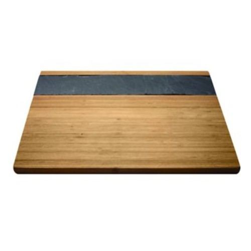 Epicureanist Bamboo and Slate Cheese Serving Tray