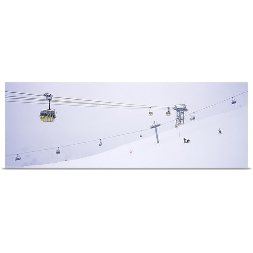 Poster Print entitled Ski lifts in a ski resort, Arlberg, St. Anton, Austria