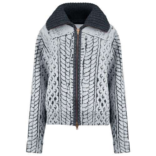 Coated wool jacket