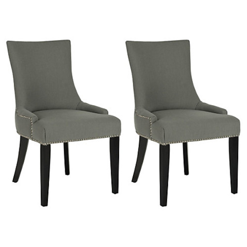 Slate Lester Chairs, Pair