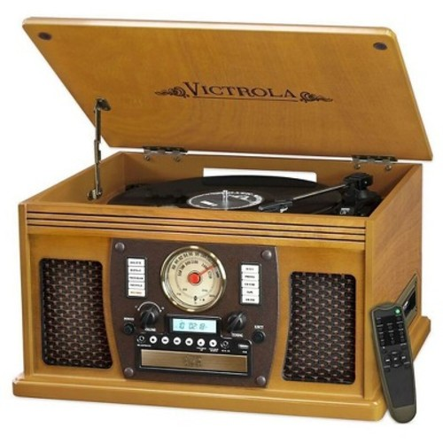 Vinyl Turntable Victrola - Oak