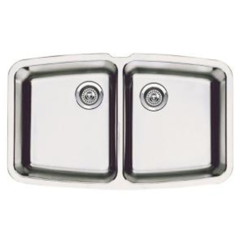 Blanco Performa Undermount Stainless Steel 33 in. Medium Equal Double Bowl Kitchen Sink