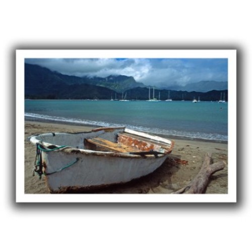Artwal Kathy Yates Waiting to Row in Hanalei Bay Unwrapped Canvas Artwork, 16 x 24 Inch
