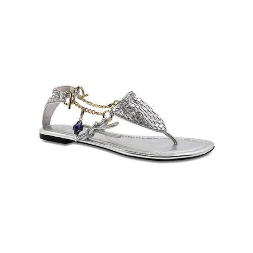 Cici Theia Metallic Leather Bikini Sandal