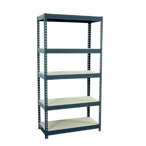 Sandusky Lee CR3618 Gray Steel Boltless Rivet Particle Board Shelving, 72