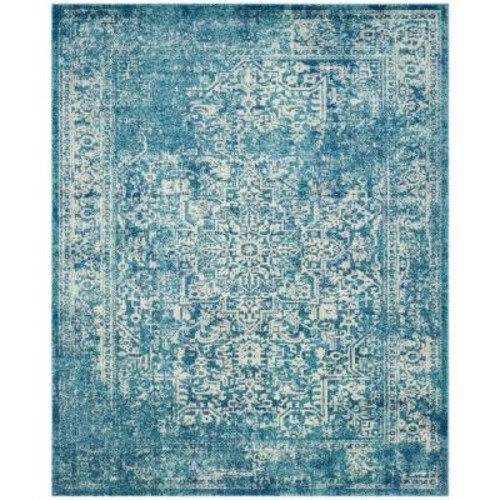 Safavieh Evoke Blue/Ivory 9 ft. x 12 ft. Area Rug