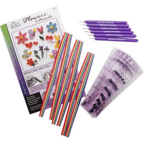 Quilling Class Pack Kit, Flowers & Friends