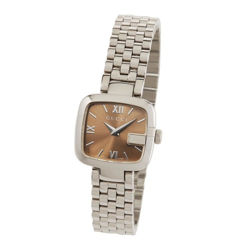 Gucci 24mm G-Gucci Bracelet Watch, Brown