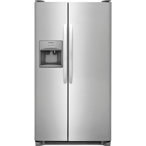 Frigidaire - 25.6 Cu. Ft. Side-by-Side Refrigerator - Stainless steel