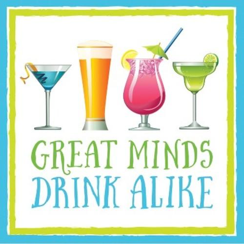 16ct Great Minds Drink Alike Cocktail Beverage Napkins