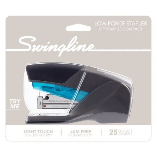 Swingline Optima 25 Compact Stapler Blue/Gray