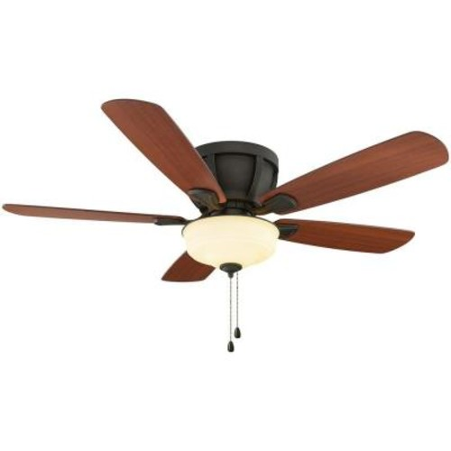 Home Decorators Collection Costner 52 in. Indoor Oil-Rubbed Bronze Ceiling Fan with Light Kit