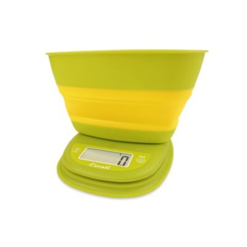 Escali Pop-Up Digital Food Scale in Yellow