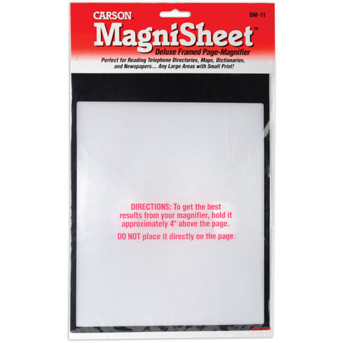 Carson Optical MagniSheet Deluxe Framed Page Magnifier