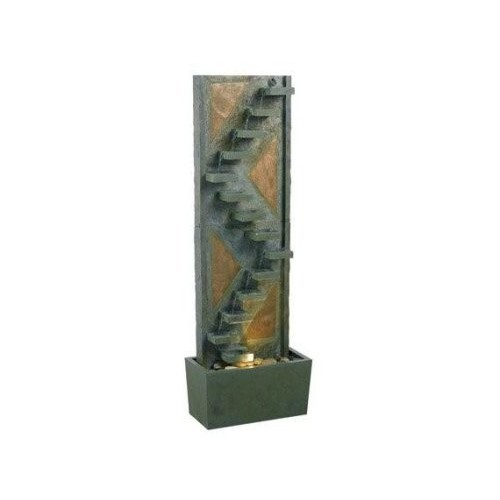 Kenroy Home Traverse Outdoor Floor Fountain in Natural Slate and Copper finish is 48