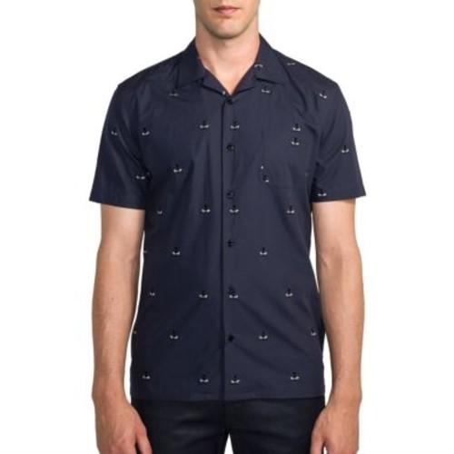 FENDI Monster Print Button-Down Shirt