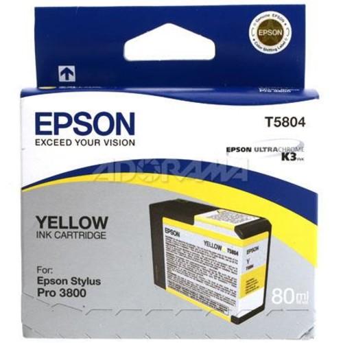Epson T58 T580400 Yellow Ink Cartridge