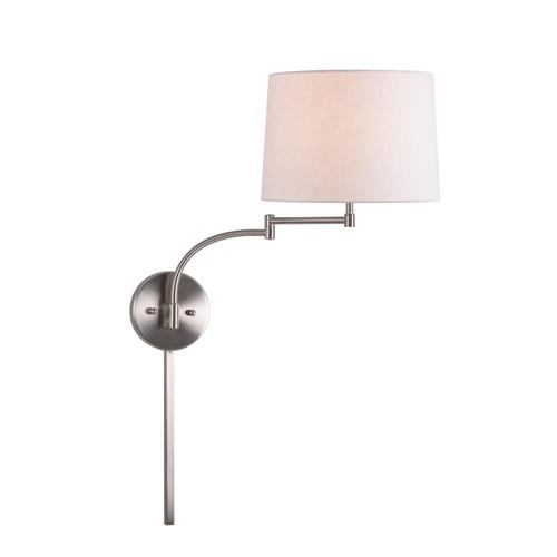 Kenroy Home Seven 1-Light Brushed Steel Swing Arm Lamp