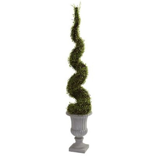 Nearly Natural 5425 Mohlenbechia Spiral Tree Floor Plant in Decorative Vase