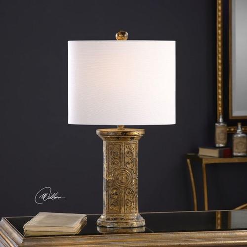 Uttermost Latina Antiqued Gold Lamp