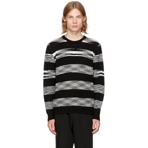 MISSONI Black & White Crewneck Sweater