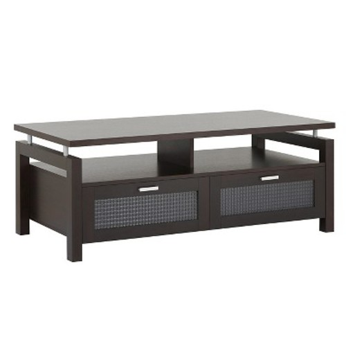 Camille Modern Uplifted Top Coffee Table Espresso - HOMES: Inside + Out