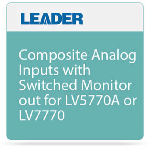 Composite Analog Inputs with Switched Monitor out for LV5770A or LV7770