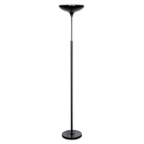 Globe Electric Torchiere LED Floor Lamp in Black
