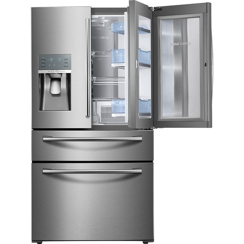 Samsung 27.8 cu. ft. Food Showcase 4-Door French Door Refrigerator in Stainless Steel