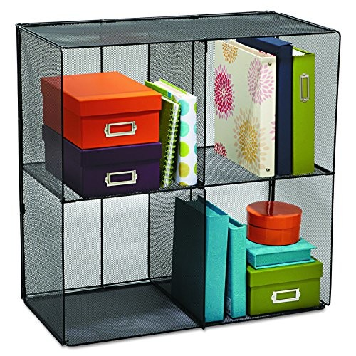 Safco Products 2172BL Onyx Mesh Cubes for use with Onyx Mesh Cube Bins 2173BL, sold separately, Black [Cube]