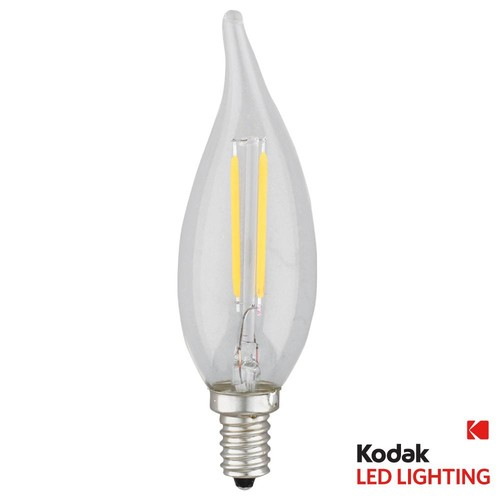 Kodak 40W Equivalent Warm White E12 Candle Flame Tip Dimmable LED Light Bulb