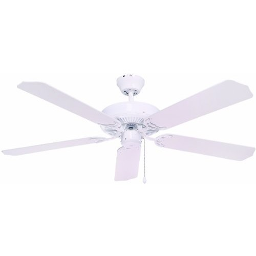 Bala 824030 Five Blade Ceiling Fan, 52-Inch, White
