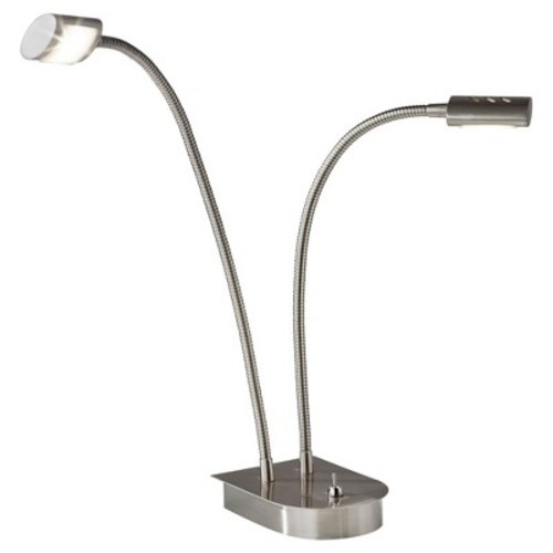 Adesso Eternity LED Gooseneck Desk Lamp - Silver