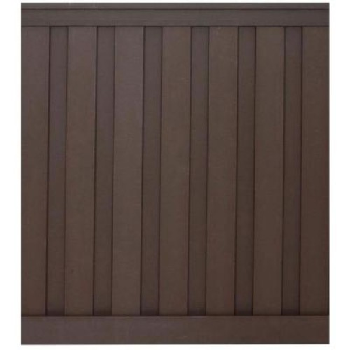 Trex Seclusions 6 ft. x 6 ft. Woodland Brown Wood-Plastic Composite Board-On-Board Privacy Fence Panel Kit