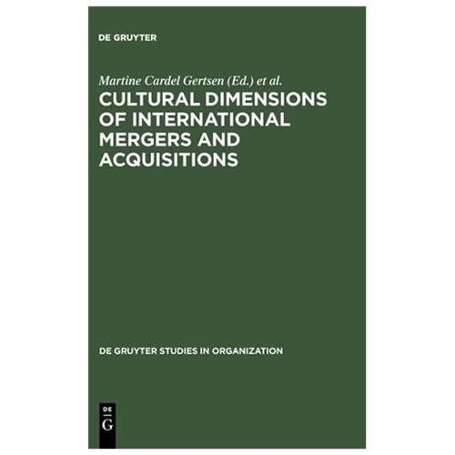 Cultural Dimensions of International Mergers and Acquisitions (Paperback)
